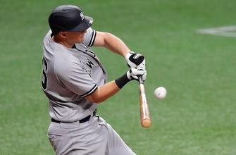 DJ Lemahieu drives in three runs, Yankees edge Rangers, 7-4