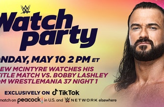 Join Drew McIntyre live on TikTok for a WWE Watch Party this Monday