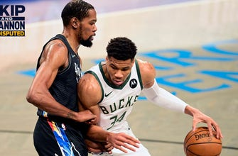 Skip Bayless: I've been driving the Nets' bandwagon all year; I think Giannis and the Bucks will get swept I UNDISPUTED thumbnail
