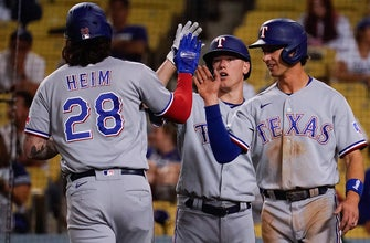 Jonah Heim's two-run shot helps Rangers wallop Dodgers, 12-1
