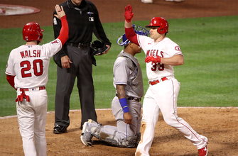 Max Stassi goes 3-for-4 with three RBI as Angels top Royals, 8-3