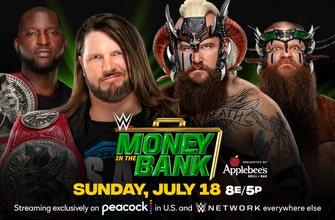 Campeones de Parejas de Raw AJ Styles & Omos vs.Los Viking Raiders