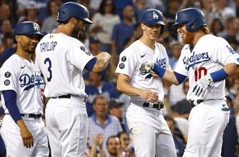 Mookie Betts, Justin Turner both hit grand slams as Dodgers pummel Diamondbacks, 22-1