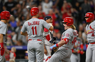 Harrison Bader's grand slam caps off six-run 10th inning as Cardinals top Rockies, 9-3