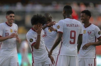 Akram Afif scores Qatar's second goal in 11 minutes, gives team 2-0 lead over Grenada
