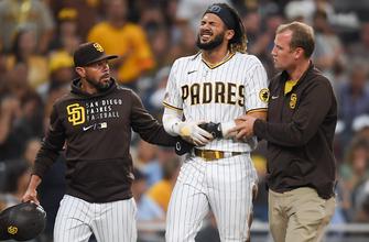 Fernando Tatis Jr. exits with shoulder injury as Padres fall to Rockies, 9-4 thumbnail