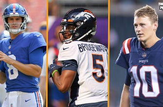 Phil Simms reacts to Broncos starting Teddy Bridgewater in Week 1, Daniel Jones, Mac Jones adjusting to NFL I THE HERD thumbnail
