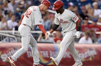 Phillies ride four-run ninth inning to 6-5 win over Nationals thumbnail