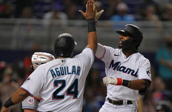 Lewis Brinson's grand-slam helps Marlins hold off Mets, 6-3 thumbnail