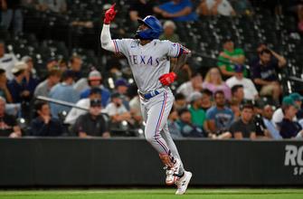 Adolis Garcia belts 25th homer as Rangers edge Mariners, 5-4 thumbnail