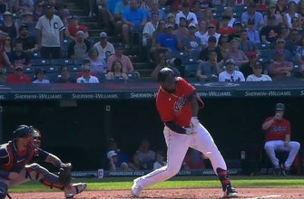 Franmil Reyes cuts Red Sox lead over Indians to 2-1 with monster solo homer thumbnail