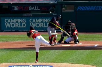 Kyle Schwarber launches solo homer to give Red Sox an early 1-0 lead over Indians thumbnail