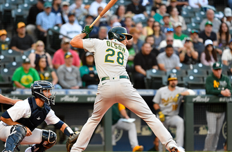 Matt Olson's RBI double helps Athletics defeat Padres in extra innings, 5-4