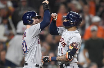 Kyle Tucker's go-ahead two-run homer in the eighth seals Astros' 6-3 win over Padres thumbnail