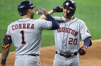 Astros roll past Rangers 12-1 with boost from seven-run fourth inning thumbnail