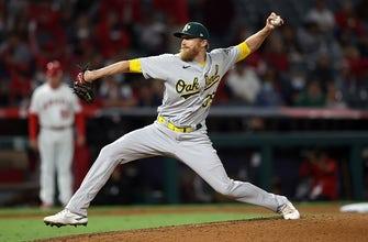 Athletics bullpen shuts door on Angels in 5-4 victory thumbnail