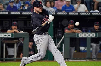 Indians' offense strikes late, take care of Royals in 6-1 victory thumbnail