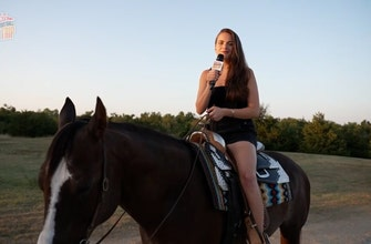 Charlotte Wilder meets Oklahoma's most famous ponies   Ultimate College Football Road Trip ...
