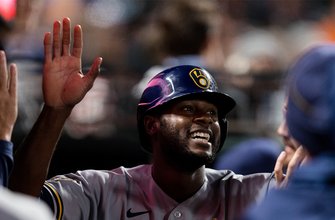 Lorenzo Cain's solo home run helps Brewers win third straight over Giants, 5-2