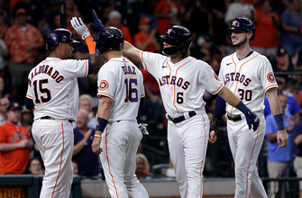 Jake Meyers homers, drives in four as Astros defeat Mariners, 11-2 thumbnail
