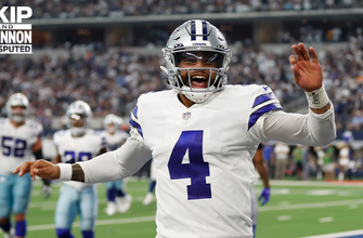 """""""Dak bounced-back"""" — Skip Bayless reacts to the Cowboys' dominate 44-20 win over Giants in Week 5 I UNDISPUTED thumbnail"""