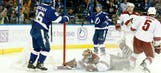 Lightning strikes early, often in win over Coyotes