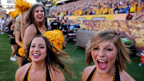 ASU cheerleaders