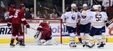 Coyotes let visiting Sabres steal one