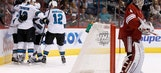 Coyotes dealt seventh straight loss by Sharks