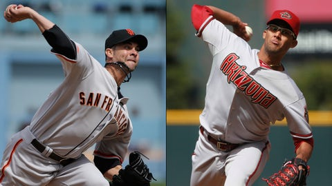 Diamondbacks (3-8) at Giants (6-3)