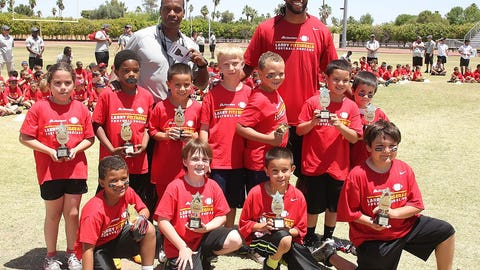 Larry Fitzgerald football camp