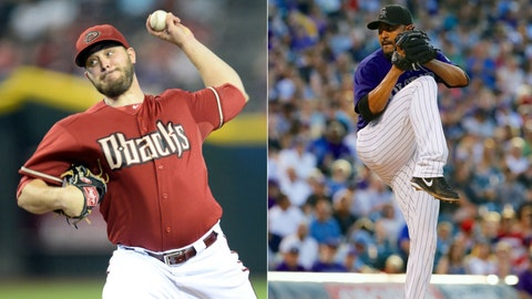 Diamondbacks (51-66) vs. Rockies (45-71)