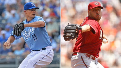 Diamondbacks (49-65) vs. Royals (59-53)