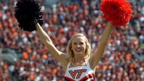 Virginia Tech cheerleader