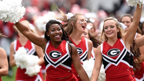 Georgia cheerleaders