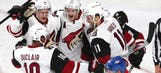 Coyotes withstand late Canadiens' rally, snap losing streak