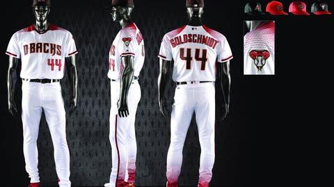 Diamondbacks home white uniform