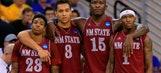 Aggies fall to No. 2 seed Jayhawks in NCAA opener