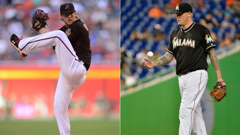Diamondbacks (18-21) at Marlins (16-25)