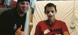 Archie Bradley meets 14-year-old in hospital also hit by liner on same day