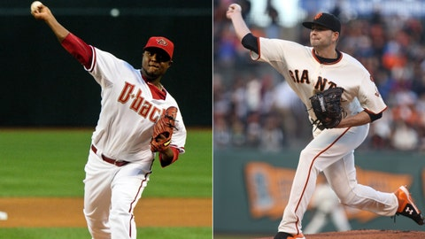 Diamondbacks (29-32) at Giants (34-29)