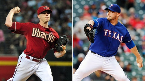 Diamondbacks (41-42) at Rangers (41-43)