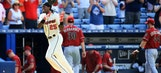 D-backs stave off no-hitter, fall in 10th to Braves