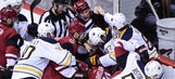 Watch: Coyotes-Sabres game ends with brawl