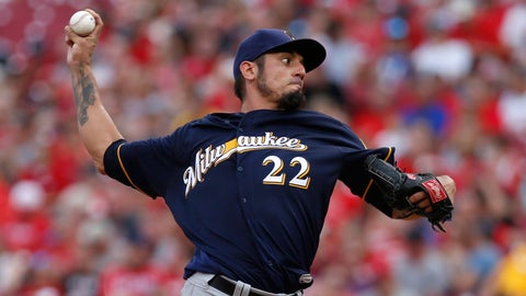 Brewers starting pitcher Matt Garza