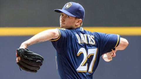 Brewers starting pitcher Zach Davies