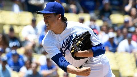 Dodgers starting pitcher Kenta Maeda