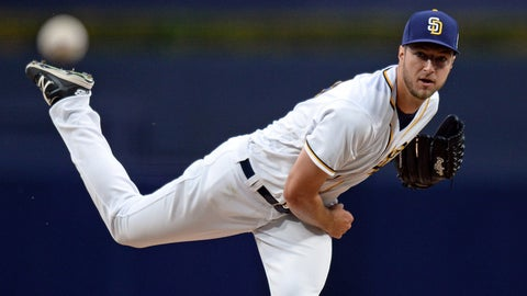 Padres starting pitcher Colin Rea