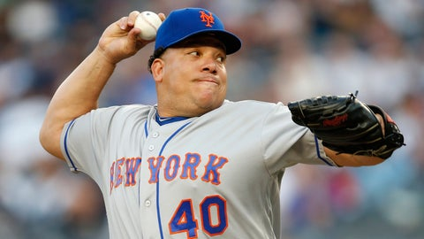 Mets starting pitcher Bartolo Colon