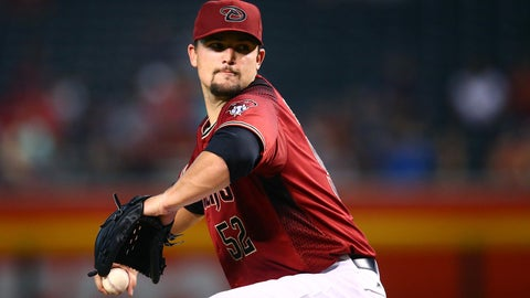 D-backs starting pitcher Zack Godley